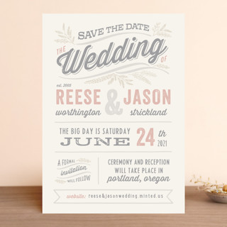 Rustic Charm Save the Date Cards
