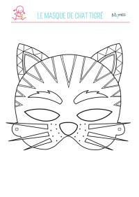 Coloriage Masque Tigre Masque Imprimer Gratuit Masque