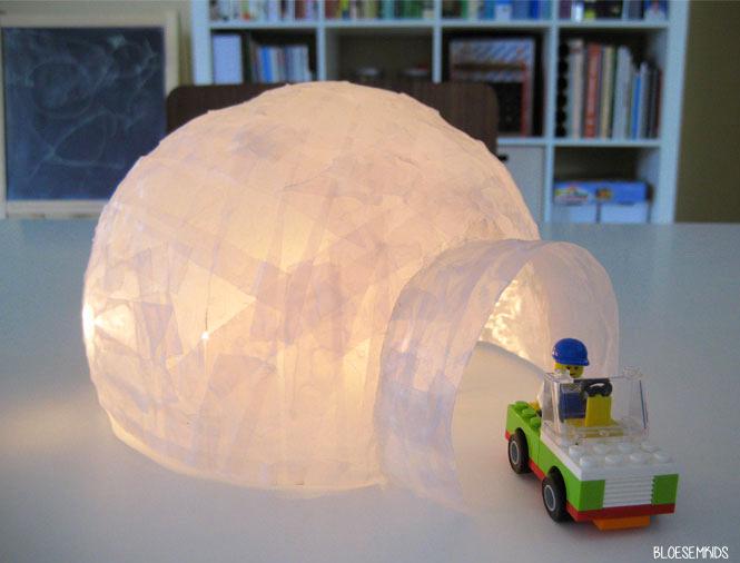 Un igloo en papier mch  Momesnet