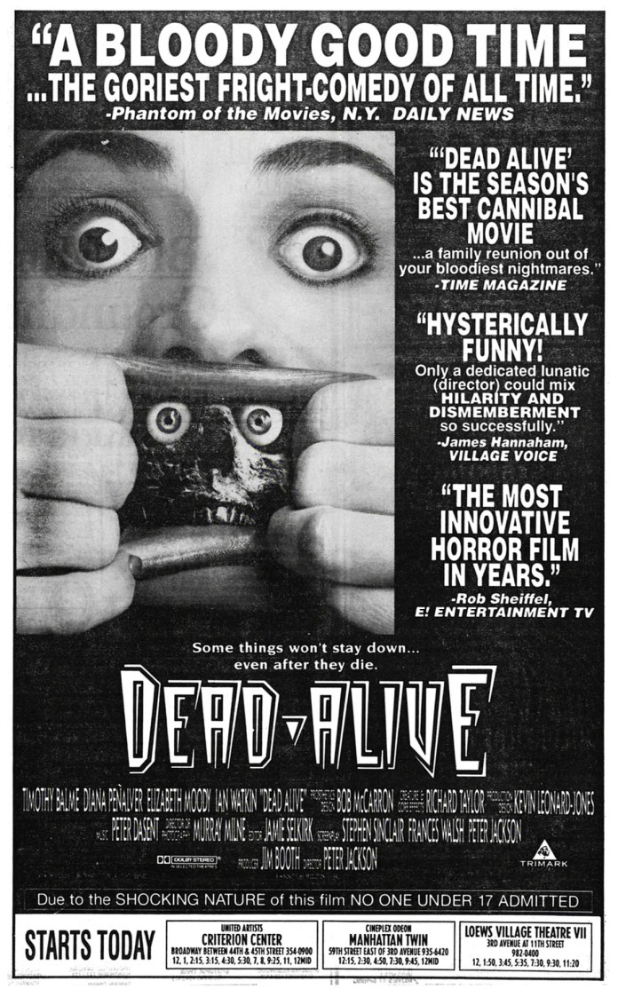 Dead Alive - Anúncio Nauseam II por Michael Gingold