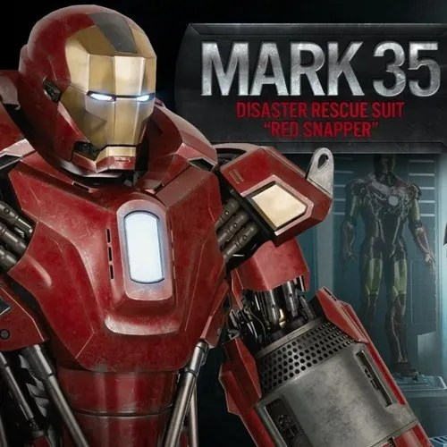 Fall Be Kind Wallpaper Iron Man 3 Mark 35 Red Snapper Armor