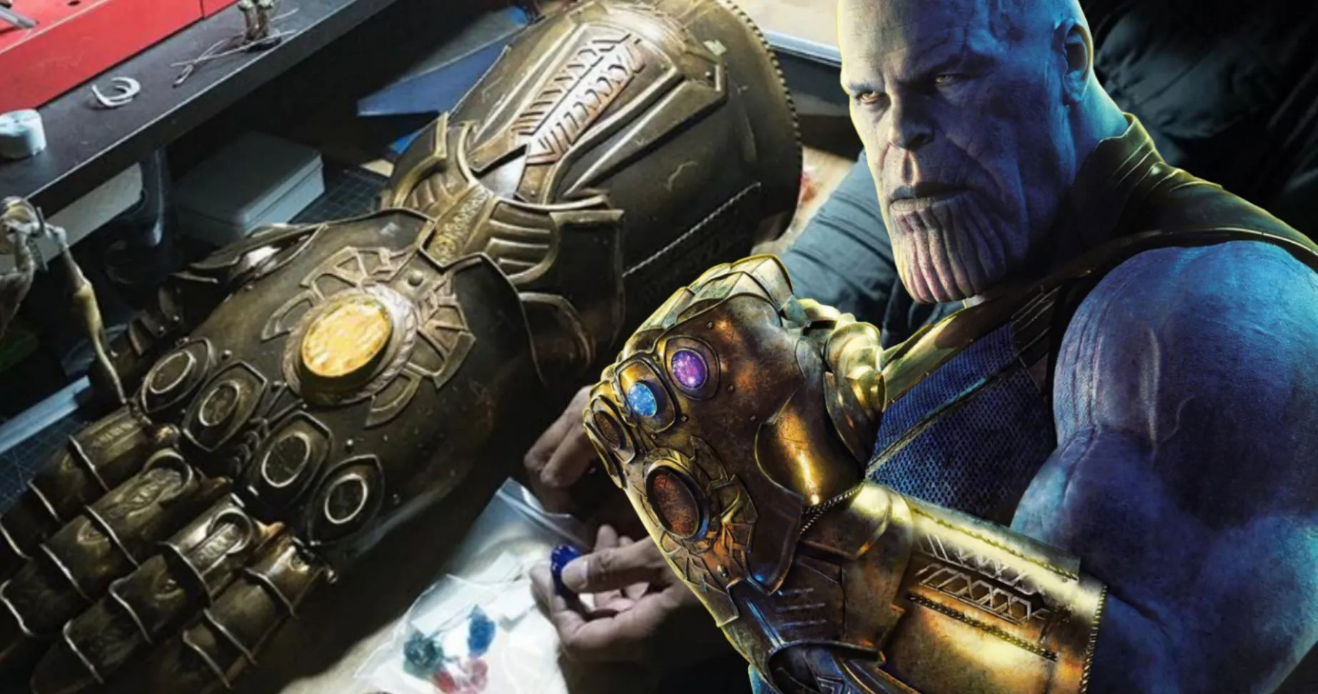 Replica of thanos's infinity gauntlet from the avengers infinity war movie. Thanos Infinity Gauntlet Comes Together In Avengers Infinity War Props Photo