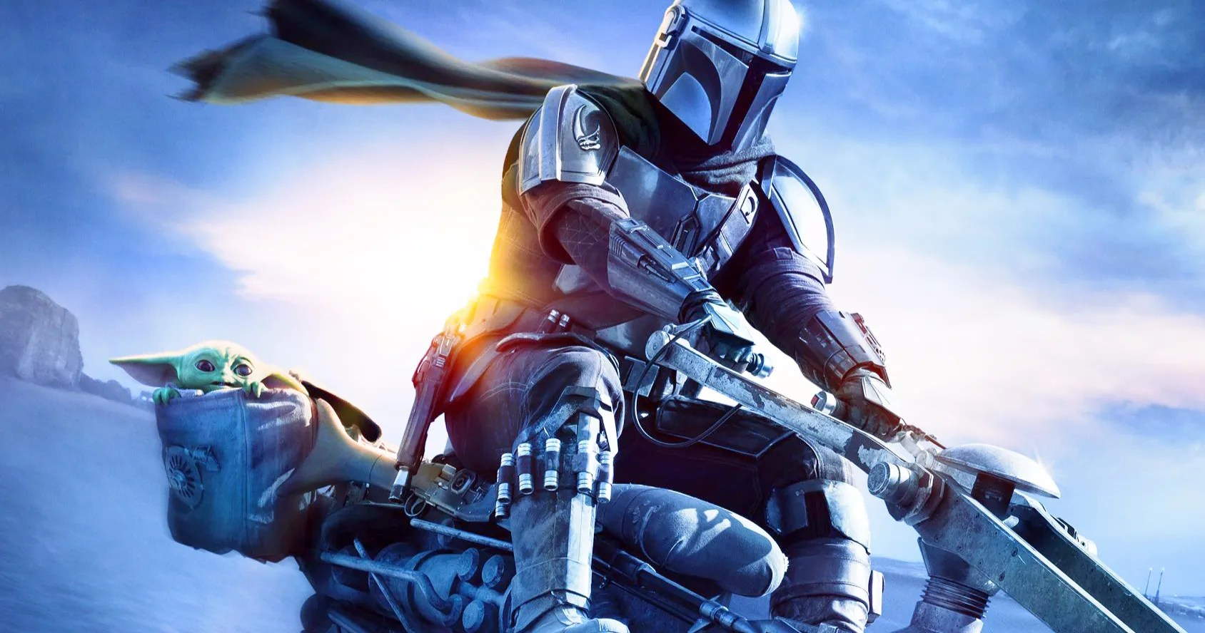 New The Mandalorian Season 2 Poster Speeds In With Mando Baby Yoda Lenexweb
