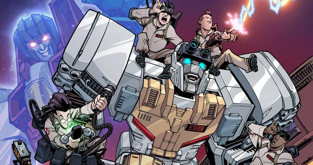 Fall Of Cybertron Wallpaper Hd Ghostbusters Amp Transformers Team Up In Crossover Comic