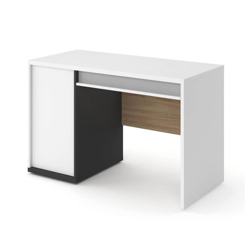 bureau adolescent imola blanc et bois largeur 120cm