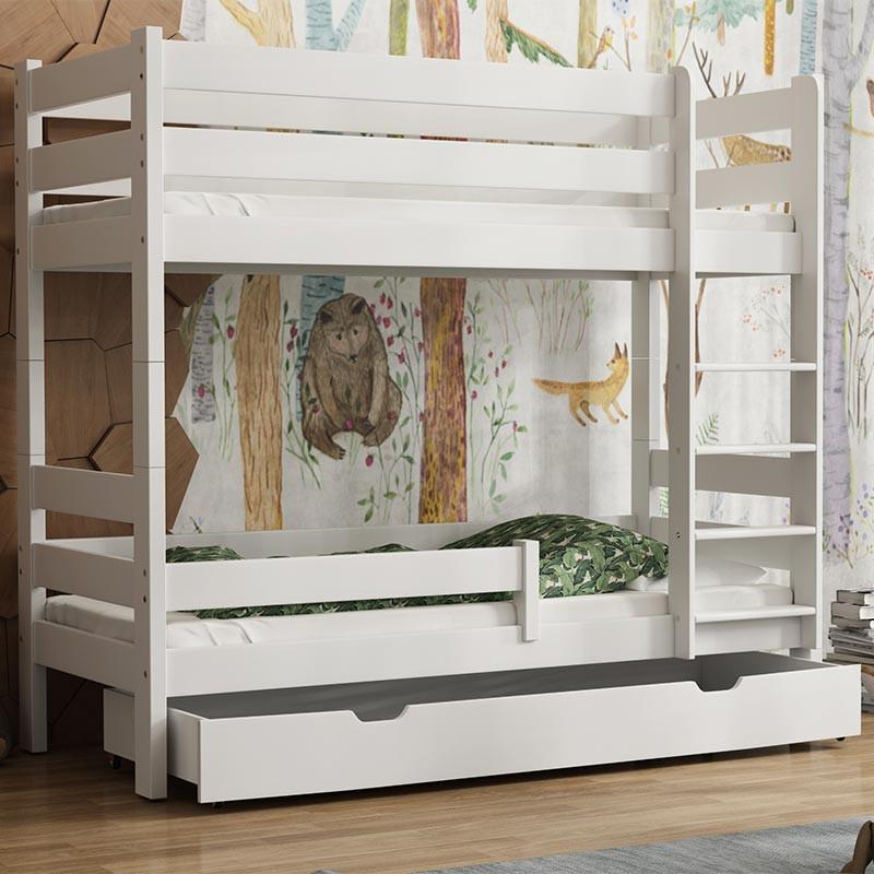 lit superpose gaga 6 tailles pour chambre enfant 9 couleurs
