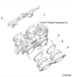 details about throttle body adapter polaris rzr 2016 2017 2018 part 1205302 oem [ 2000 x 2000 Pixel ]
