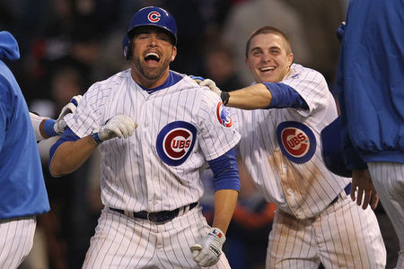 Cubs Win with David DeJesus walk