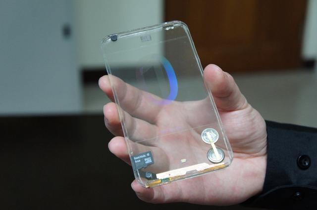 transparent mobile display