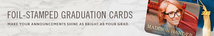 foil stamped graduation invitations