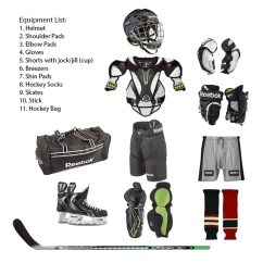 Hockey Player Diagram Nissan 350z 2005 Audio Wiring Ice Equipment Football