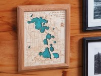 "Single Layer Lake Art - 8"" x 10"" 