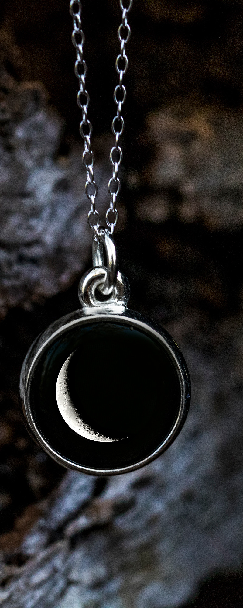 Choose Your Moon Phase Necklace Classic Design by Moonglow  The Grommet