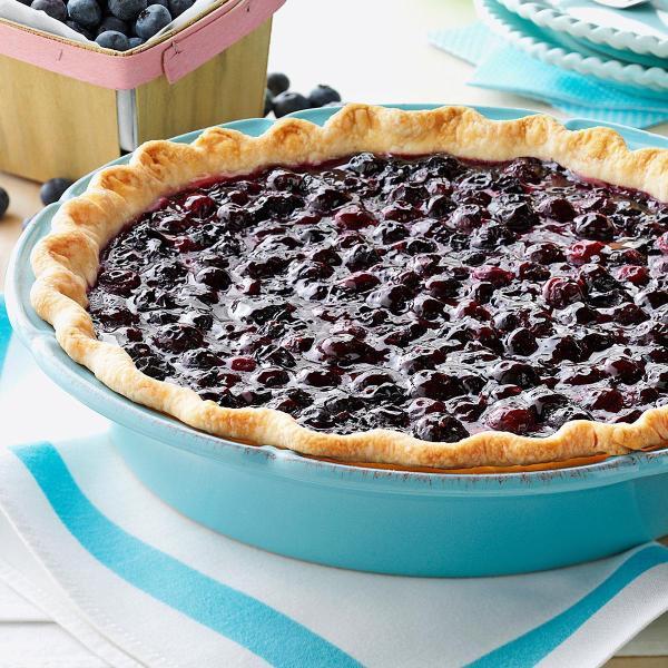 ContestWinning Fresh Blueberry Pie Recipe Taste of Home