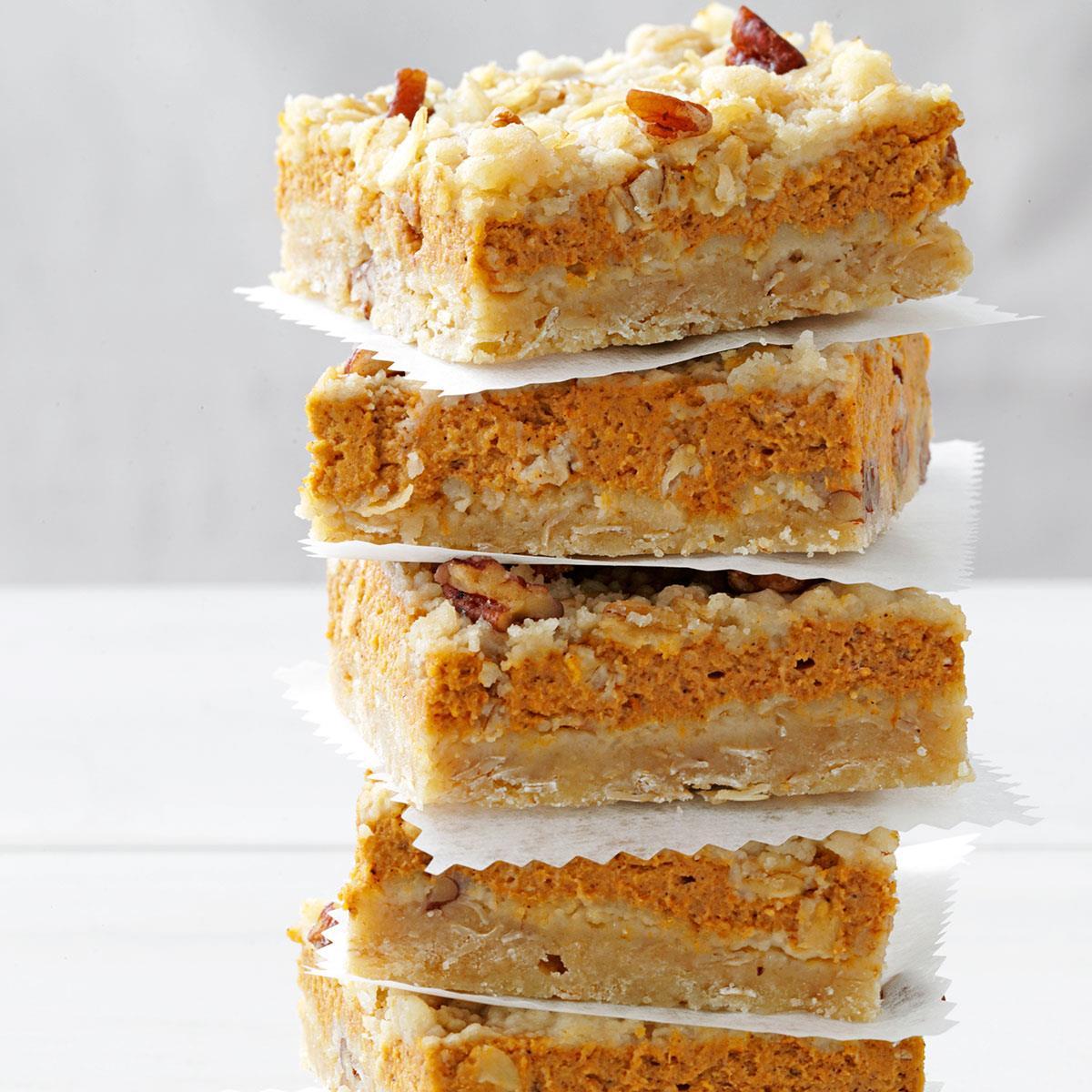 Cream Cheese Pumpkin Bars Recipe Taste Of Home