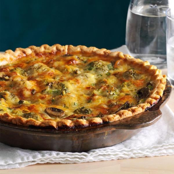 Mushroom Broccoli Quiche Recipe Taste of Home
