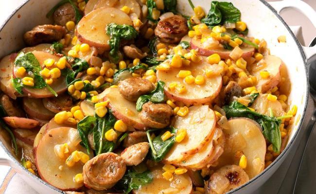 Sausage Vegetable Skillet Dinner Recipe Taste Of Home