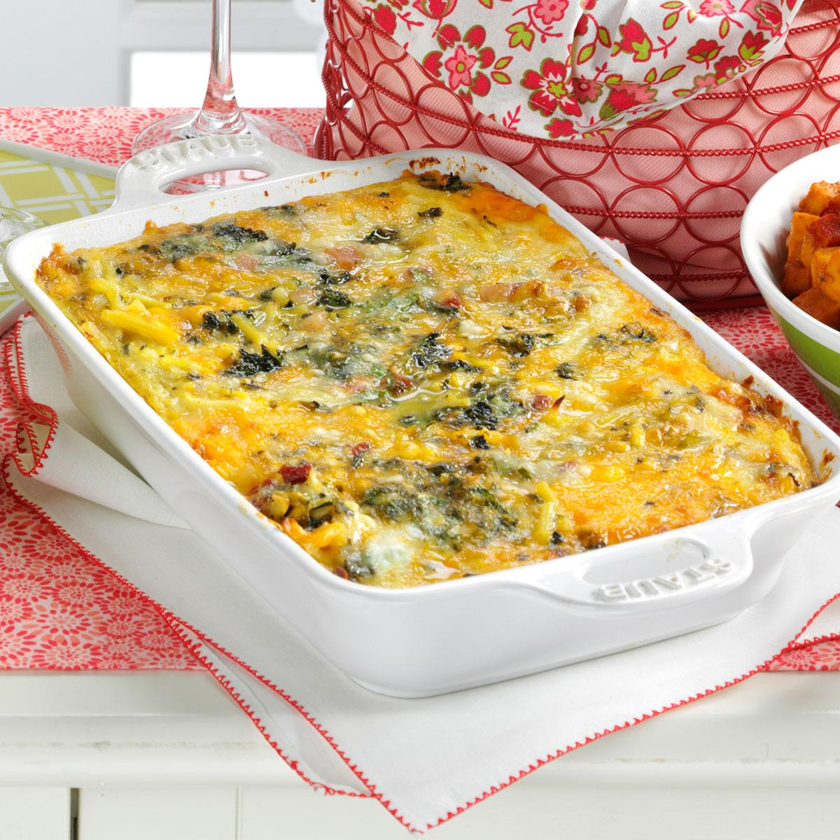 Spinach Hash Brown Frittata Recipe | Taste of Home