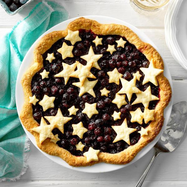StarStudded Blueberry Pie Recipe Taste of Home