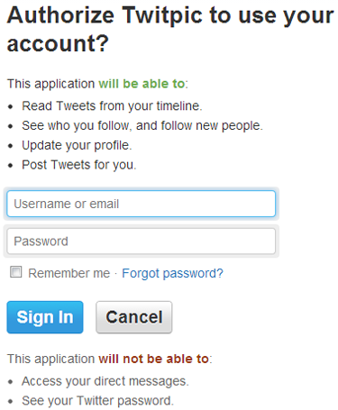 twitpic authorize Twitter vulnerability lets apps send DMs without user permission