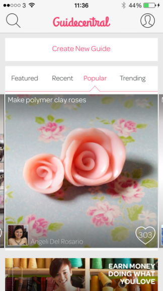 guidecentral screenshot 2 Crafters can monetize their how to guides with Guidecentrals new Maker Program