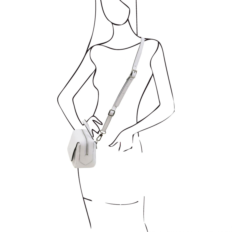 Dalia Saffiano Leather Mini bag White TL141762