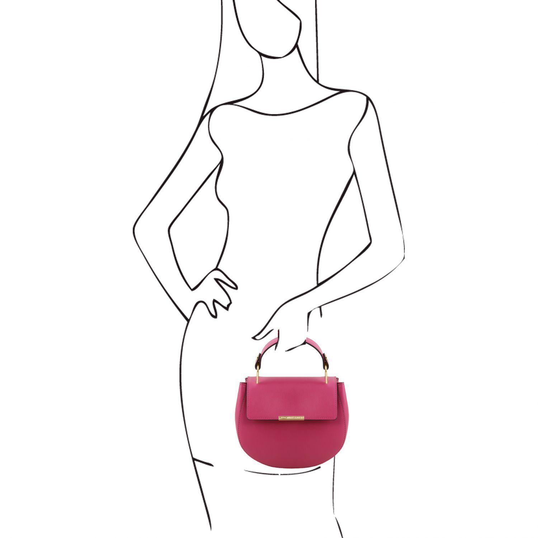 Luna Leather Handbag Magenta TL141817