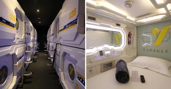 Resultado de imagen de yellow capsule hotels