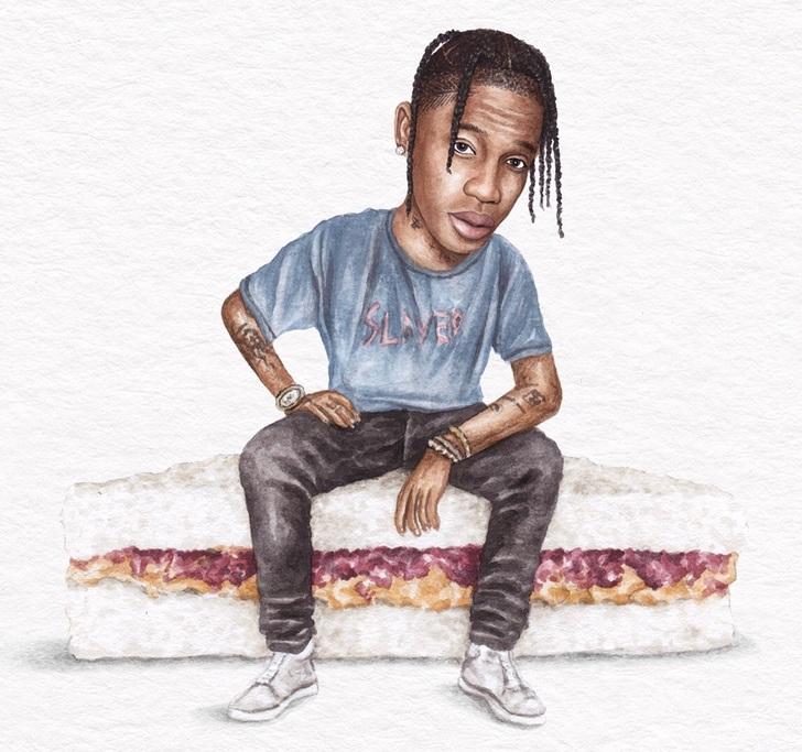 15 3 - Artista abre el apetito con los famosos posando sobre deliciosos sándwiches