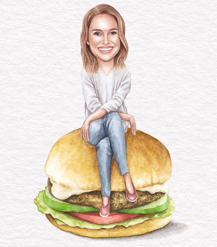 2 21 - Artista abre el apetito con los famosos posando sobre deliciosos sándwiches