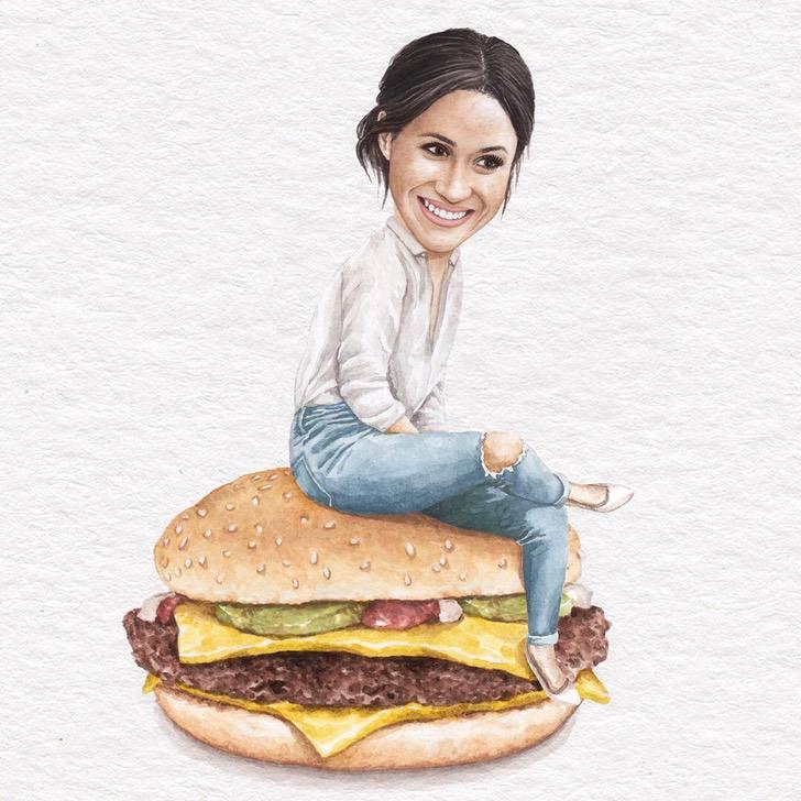 20 1 - Artista abre el apetito con los famosos posando sobre deliciosos sándwiches