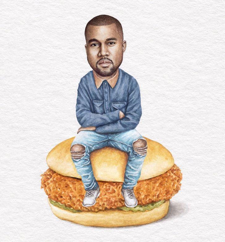 9 14 - Artista abre el apetito con los famosos posando sobre deliciosos sándwiches