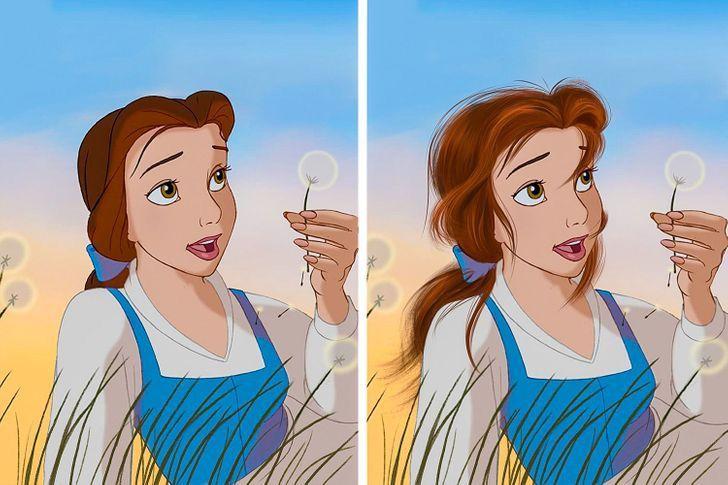 7 57 - Así se verían las princesas Disney si tuvieran un cabello más real. Ariel por fin lo tiene mojado