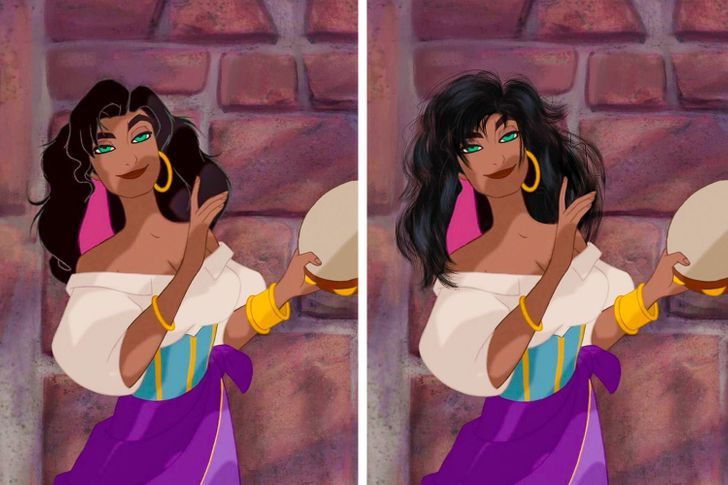 8 57 - Así se verían las princesas Disney si tuvieran un cabello más real. Ariel por fin lo tiene mojado