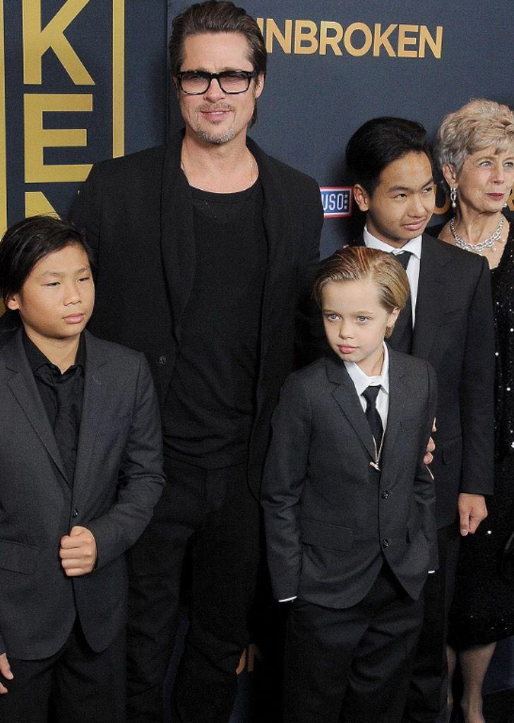 diferencias angelina brad10 - 16 fotos de la diferencia entre cómo se lleva Angelina Jolie con sus hijos y cómo lo hace Brad Pitt