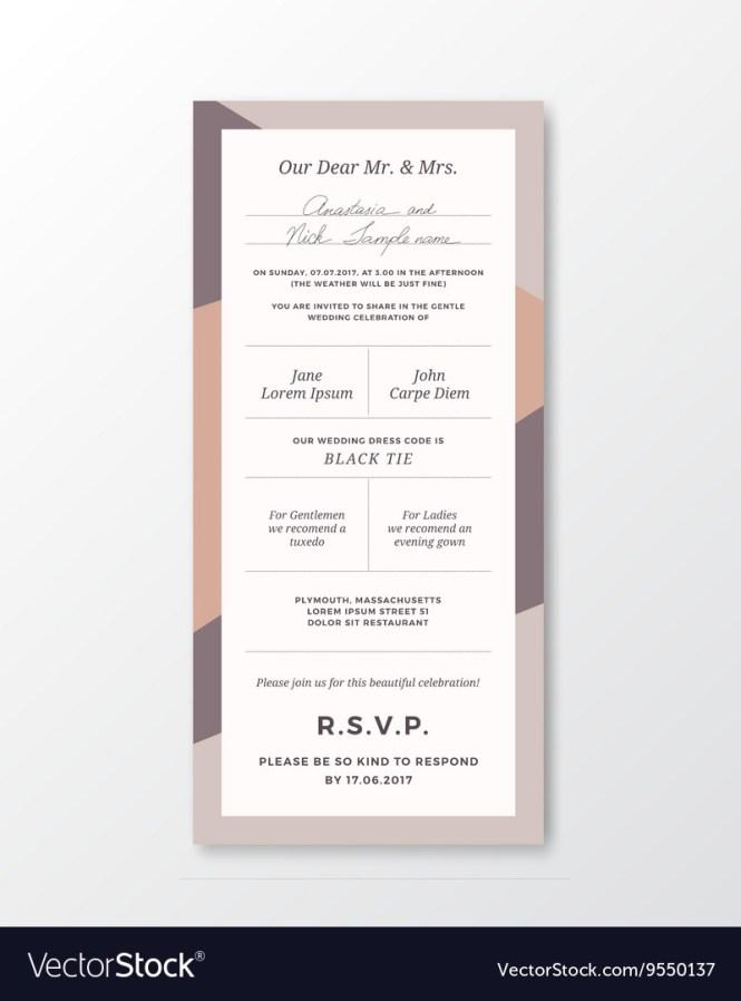 Wedding Invitation Template Modern
