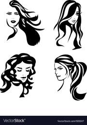 woman hair silhouettes royalty