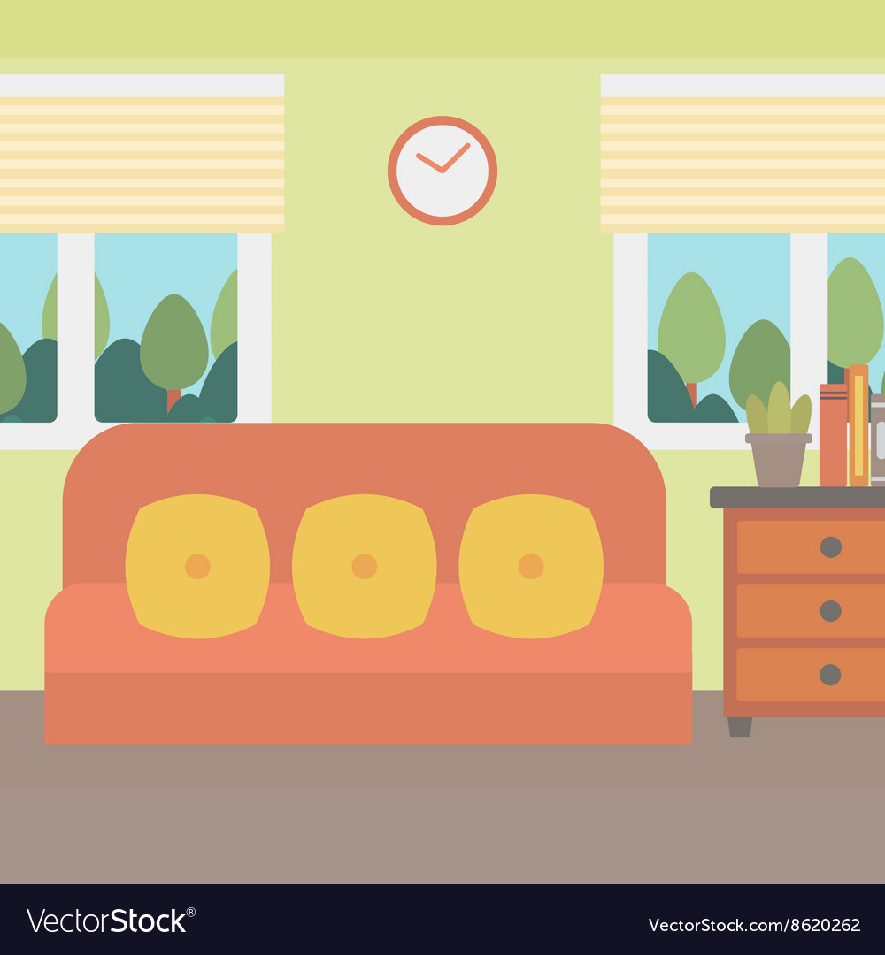 Background Of Living Room Royalty Free Vector Image