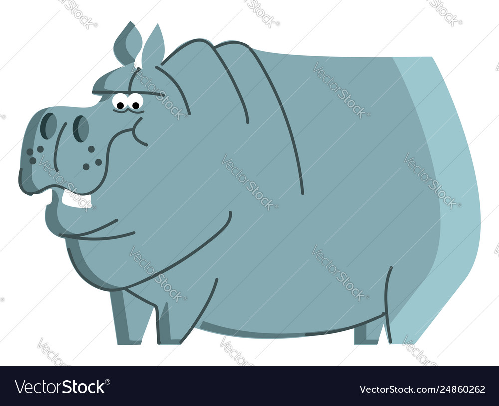 medium resolution of clipart a blue angry hippo animal color vector image