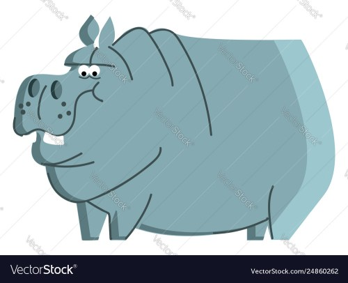 small resolution of clipart a blue angry hippo animal color vector image