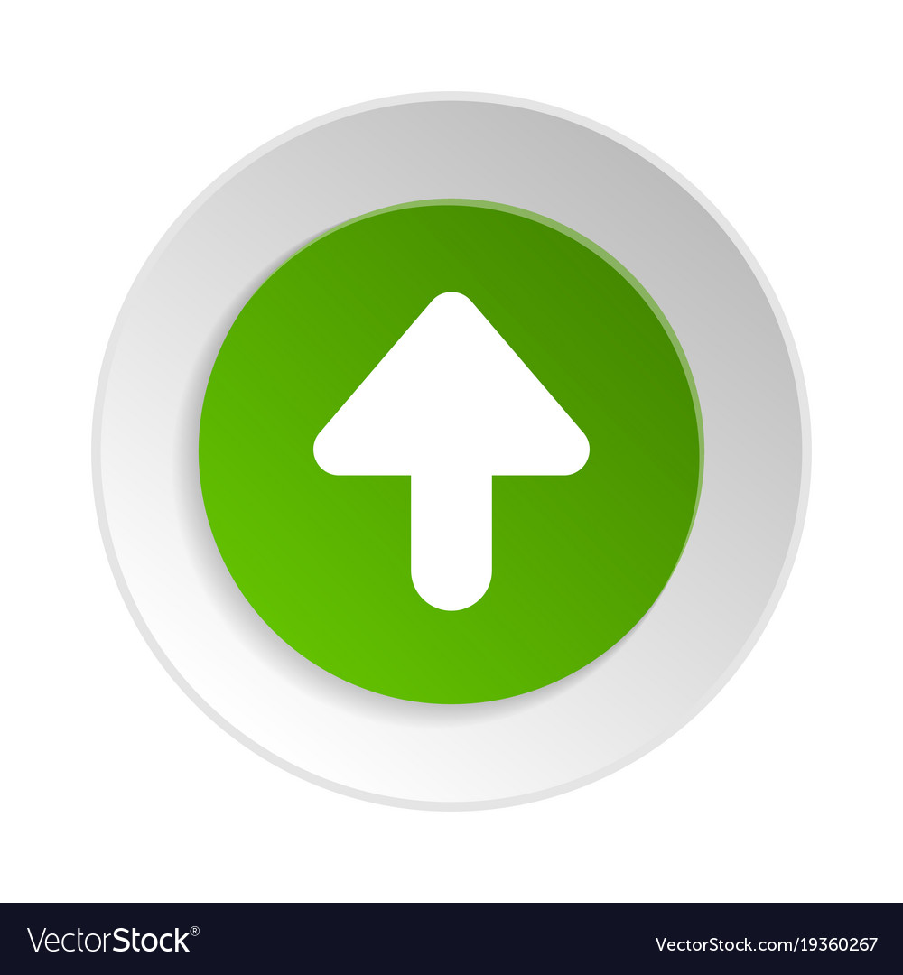 green round button with