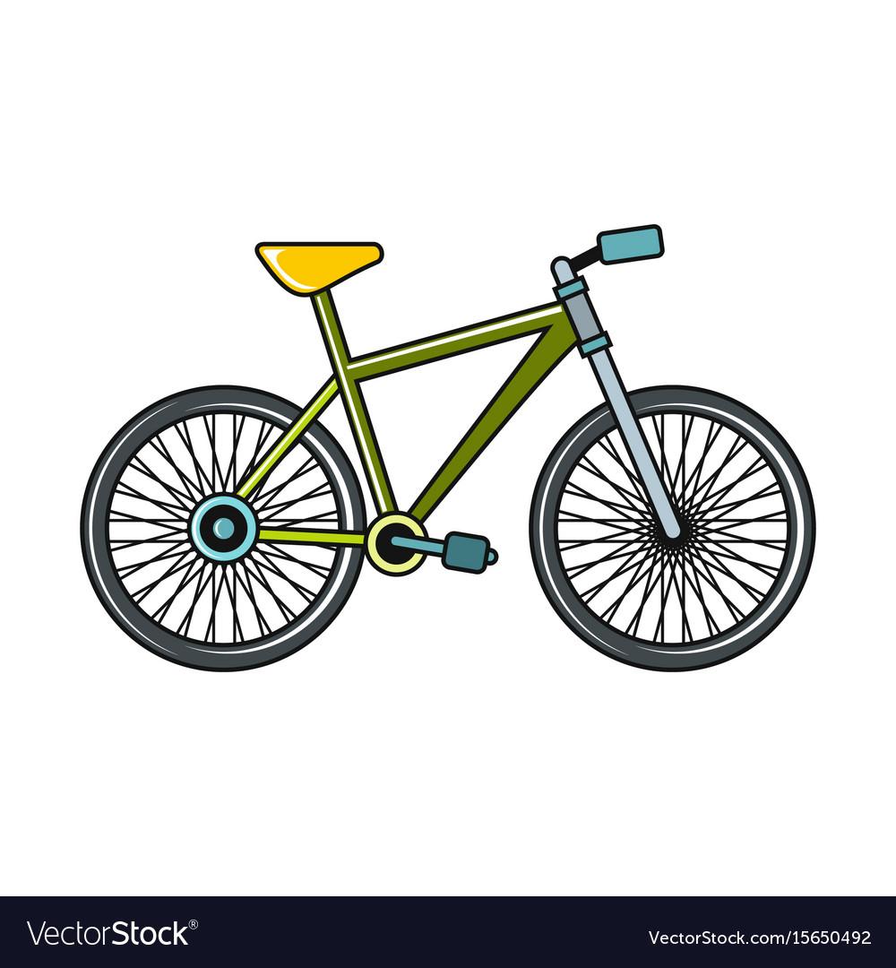 bike cartoon icon on