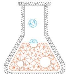 boil liquid polygonal frame mesh vector image [ 742 x 1080 Pixel ]