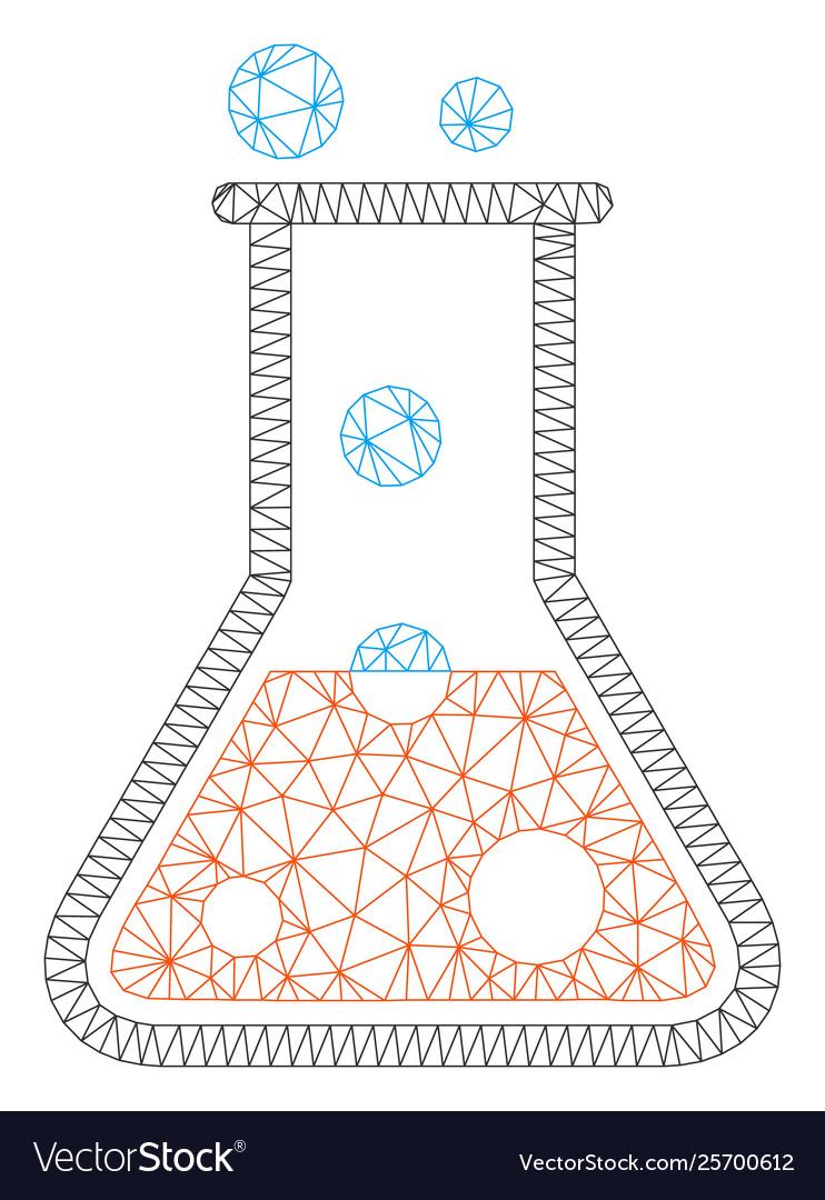 medium resolution of boil liquid polygonal frame mesh vector image