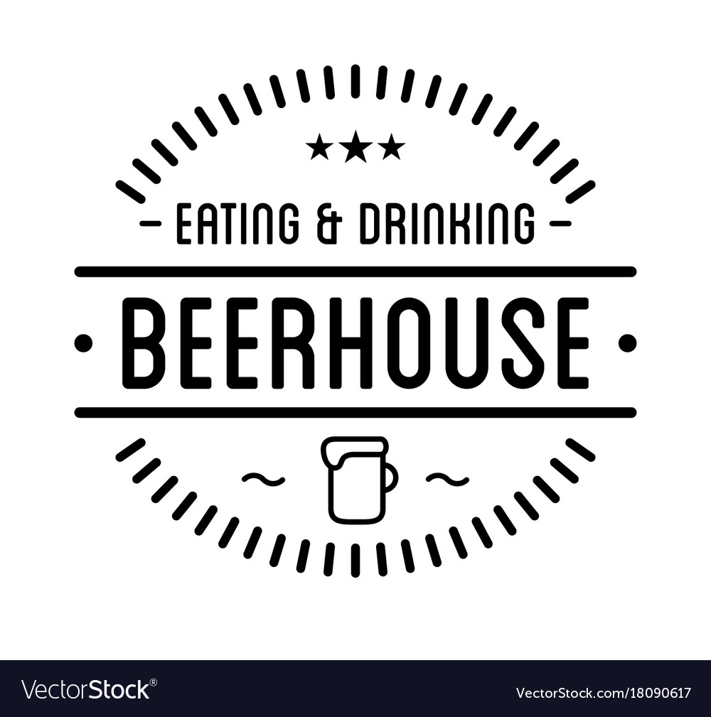 Black Logo Beer House Label Template Vector Image