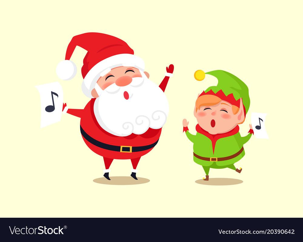 santa elf cartoon characters