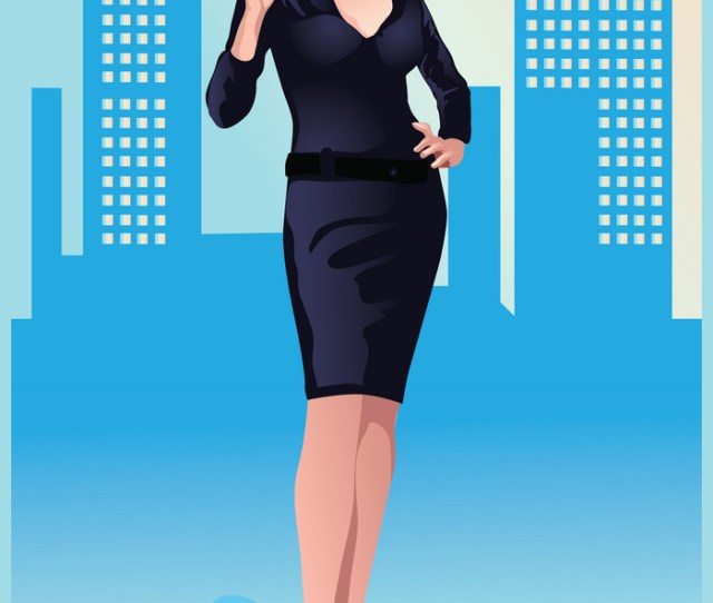 Sexy Businesswoman Vector Image