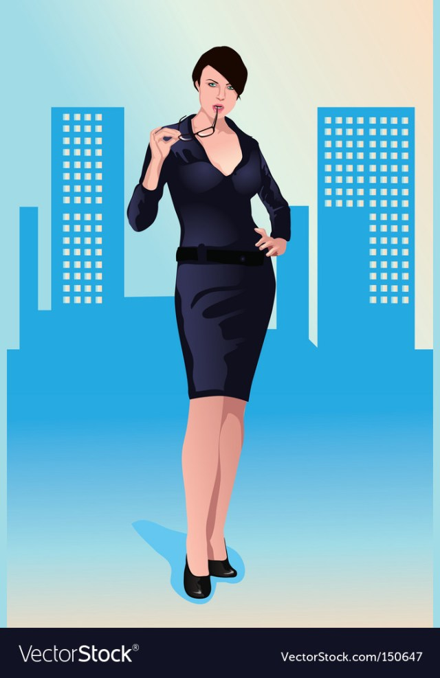Sexy Businesswoman Vector Image