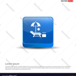 Air Travel Beach Chairs Quikr Folding Chair Icon 3d Blue Button Royalty Free Vector Image