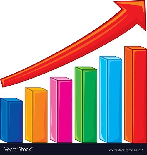 small resolution of bar graph increase diagram vector image
